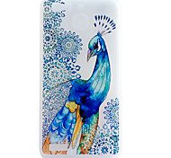 Peacock Pattern Frosted TPU Material Phone Case for Huawei Ascend P9 Lite/P9/P8 Lite/P8