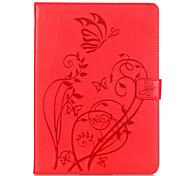 На все тело бумажник / Визитница / Other Цветы Искусственная кожа Мягкий Embossed leather Для крышки случая Apple iPad Air 2
