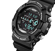 SANDA® Men's Fashion Sport Digital LCD Screen Waterproof Rubber Watch Fashion Wrist Watch Cool Watch
