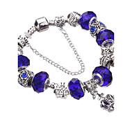 Bracelet Charmes pour Bracelets / Bracelets Rigides / Bracelets de rive / Bracelets en Argent Alliage / Acrylique / Strass / Plaqué argent