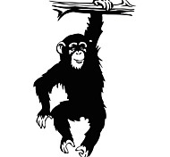 Fashion The Monkey L Pattern PVC Bathroom or Bedroom or Glass Wall Sticker Home Decor