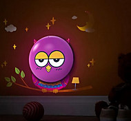 Wall Stickers Owl Pattern 3D Wall Light Nightlight