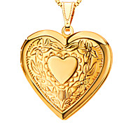 Pendants Metal Heart Shape Golden 50