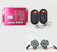 Silver Motorcycle Speakers MP3 Player Wireless Remote Control Motor Anti-theft Alarm Audio System