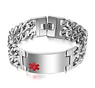 simples personalidade elegante pulseira marca médica
