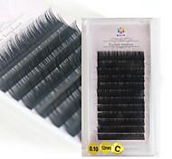 A box has 12 rows of eyelashes wimpers Oogwimper Individuele wimpers Ogen / Oogwimper Natuurlijk lang Verlengde / Extra Volume / Naturel