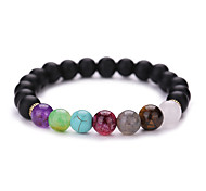 New Arrival Multicolor Nature Stone Bracelet Strand Bracelets Daily / Casual 1pc #YMGS1014