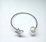 Gold/Silver Alloy Bangle Bracelet