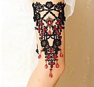 Bracciale per braccio Pizzo Alla moda Nero Gioielli,1 pezzo