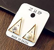 Hllow Triangle Asymmertic Fashion Earrings