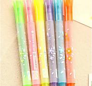 0162 Korea-Briefpapier bonbonfarbenen Stift Graffiti Stift Stempel Sterne Markierung Marker