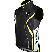 SANTIC Radsport Weste / Jacke Herrn Wasserdicht / Windundurchlässig / warm halten Ärmellos Fahhrad Unelastisch Polyester / 100% Polyester