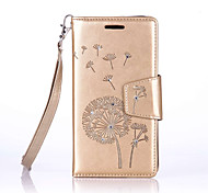 Dandelion Lanyard Embossed Diamond Phone Holster Phone Shell for Samsung Galaxy J310/J510/J710/G530/G360