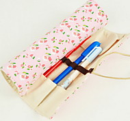 Floral Canvas Rolls Stationery Bag