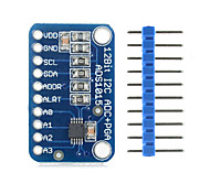 Landa Tianrui TM-ADS1015 12-bit Precision Analog Digital Coverter ADC Development Board for Arduino – Blue