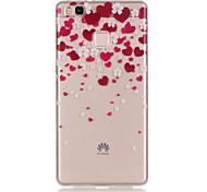 TPU + IMD Material Love Pattern Slim Phone Case for Huawei P9 Lite/P9/P8 Lite/Y625