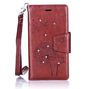 Dandelions Diamond Flip Leather Cases Cover For LG K5/K7/K10/G5 Prime Strap Wallet Phone Bags