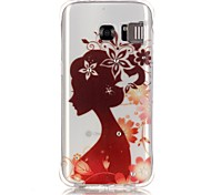 Silhouette Girl Pattern TPU Popular Brands Calling Flash Case Cover For Samsung Galaxy S7 edge / S7 / S6