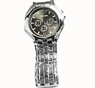 Men's Wrist watch Quartz Casual Watch Alloy Band Silver Brand