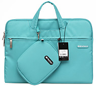 Gearmax® 14inch/15inch Waterproof Handheld Laptop Case/Bag Solid Color Blue/Green/Pink/Gray