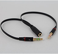 YONG WEI® 3,5 mm Audio Jack-3,5 mm Audio Jack 0,35m (1.15Ft)