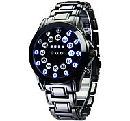 Da uomo Orologio sportivo Digitale LED / Calendario / Nottilucente Acciaio inossidabile Banda Orologio da polso Nero