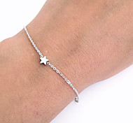 Chain Bracelets 1pc,Gold / Silver Bracelet Star Shape Fashion Friendship Bracelet Best Gifts