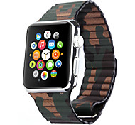 Camouflage pattern Genuine Leather Green Leather Leather Loop For Apple Watch 38mm / 42mm