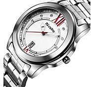 Men's Dress Watch Fashion Watch Wrist watch Calendar Quartz Stainless Steel Band Cool Casual Silver