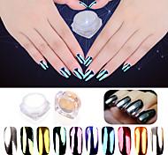 2g / sac nouveau placage de manucure poudre de miroir 10 couleurs aurora miroir miroir glitter poudre de manucure