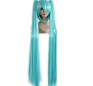 """de calidad superior verde de la reina del pelo 130cm 51 """"miku cos división peluca de Hatsune Miku con 2 clip en la peluca cosplay cola de"""