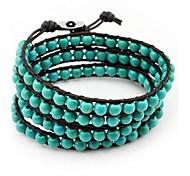 Women Gem Black  Strand Bracelets