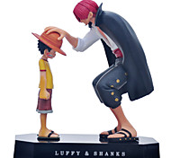 One Piece Akakami no shankusu + Straw Hat Luffy Anime Action Figures Model Toy