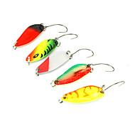 """5 pc Cucchiai Multicolore 3.2 g/1/8 Oncia,28 mm/1"""" pollice,MetalloPesca di mare / Spinning / Pesca a jigging / Pesca di acqua dolce /"""