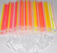 100pcs 6-color de la barra pulseras fluorescentes resplandor de la noche