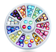 New Nail Art Multicolor 3d Glitter AB Rhinestone Wheel DIY Strass Beads Design Nail Beauty Decorations