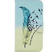 Для Кейс для Motorola Кошелек / Бумажник для карт / со стендом / Флип Кейс для Чехол Кейс для Перо Твердый Искусственная кожа Motorola