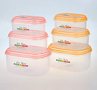 3 Kitchen Plastic Lunch Box