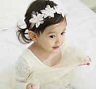 Корейские дети цветок кружева ткани повязки