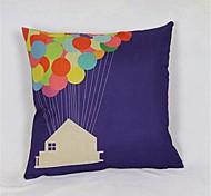 Up Linen Pillow Cover