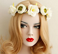 Photo  Beautiful Rose Flower Wreaths Headband for Lady Wedding Party Holiday Hair Jewelry