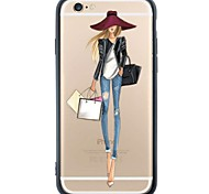 Shopping Lady Device Back Cover Dustproof/Pattern TPU and PC Soft Case Fundas for iPhone 6s Plus/6 Plus/6s/6/SE/5s/5
