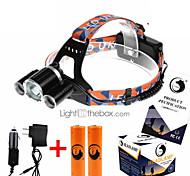 U'King ZQ-X821 Налобные фонари Ремешок для налобного фонаря LED 5000ML Люмен 4.0 Режим Cree XM-L T6 2 x Батареи 18650 Перезаряжаемый