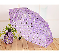 Portable Mini Folding Umbrella Couple Short Handle Umbrella Seventy Percent Off Umbrella