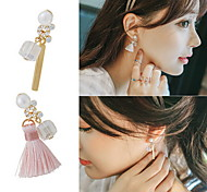 Crystal Alloy Fashion Jewelry Gold Jewelry Daily Casual 1 pair