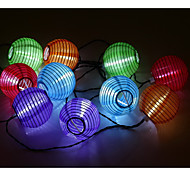 3m impermeável 10LED solar lanterna LED Natal luzes da corda