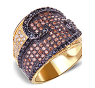 Hot Selling Romantic Design Multi Colors Cubic Zirconia Deluxe Women Brass Rings Lead Free Bridal Wedding Ring