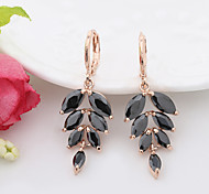 Korean Version Gold Plated  Copper Pierced Drop Earrings 1 pair