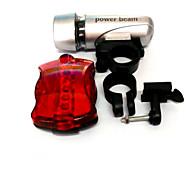 Luzes de Bicicleta,kits de luz frontal + cauda de luz-3 Modo 50 Lumens Fácil de transportar AAA / AAx6 Bateria Ciclismo/Motoprata /