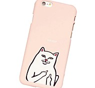 Rückseite Mattiert Katze PC Hart Cartoon,Cat, Fall-Abdeckung für Apple iPhone 6s Plus/6 Plus / iPhone 6s/6 / iPhone SE/5s/5